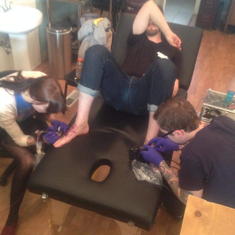team work mimi rose tattoo